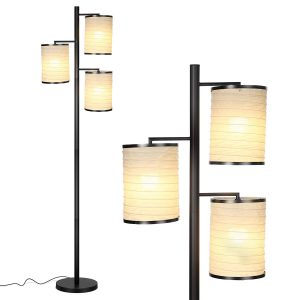 Asian Lantern LED Floor Lamp